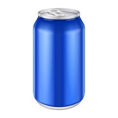 Blue Metal Aluminum Beverage Drink Can