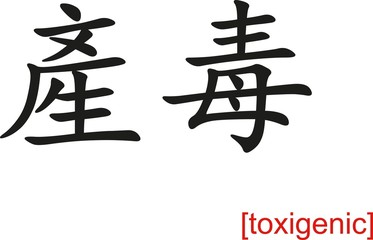 Chinese Sign for toxigenic