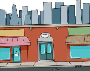 Blank Cartoon Building