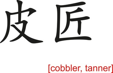 Chinese Sign for cobbler, tanner