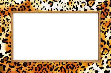 safari style picture frame incl. clipping path
