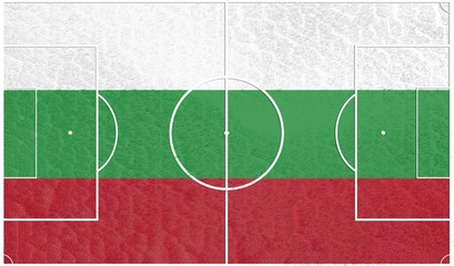 football field textured by bulgaria national flag