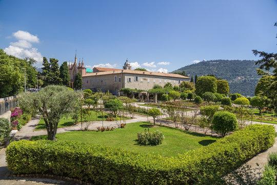 Nice, France. Garden of the monastery of Notre Dame de Simie