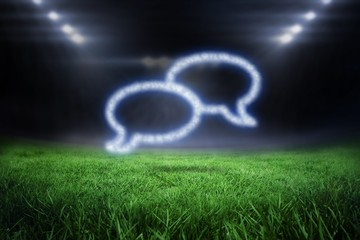 Composite image of cloud in shape of speech bubbles