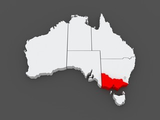 Map of Victoria. Australia.