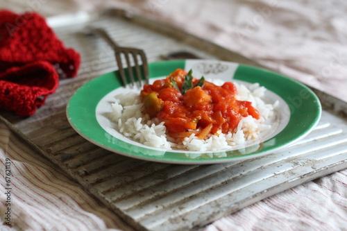 """рис с соусом, помидор, томат"" Стоковая фотография и роялти-фри изображение на Fotolia.ru - Pic 67621139"