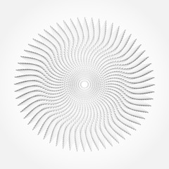 Abstract whirl lines textured background. Vector