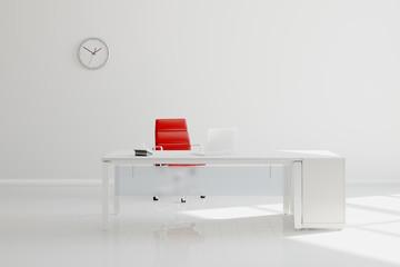Modernes Büro mit Schreibtisch und Wand
