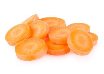 Fototapeta sliced carrot isolated on white background obraz