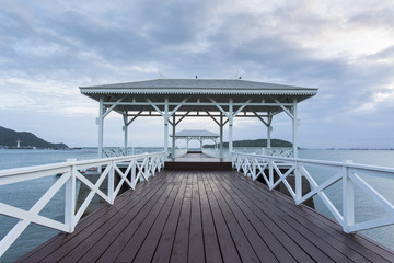 Wooden pier at Koh Si Chang island, Thailand