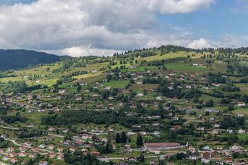 lotissement sur la colline