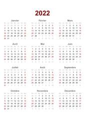 Vector: french calendar