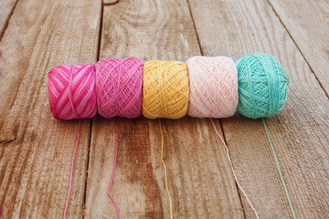 Different color threads