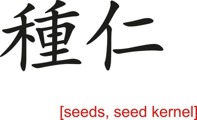 Chinese Sign for seeds, seed kernel