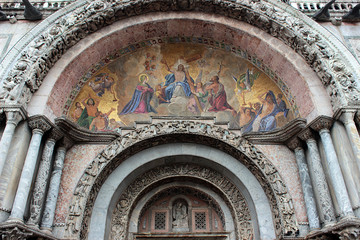 Venice, mosaic at one entrance of the basilica