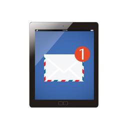 envelope on tablet computer,new massage concept