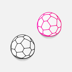 realistic design element: ball
