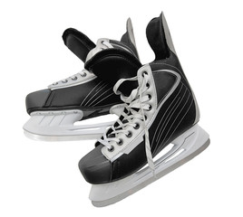 a pair of skates for hockey isolated