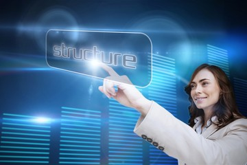 Businesswoman pointing to word structure