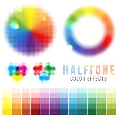 color halftone effects