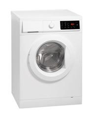 Washing machine isolated over white