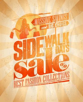 Sidewalk sale days design.