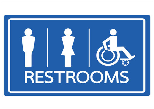 Restroom Symbol Male  Female and Wheelchair Handicap Icon