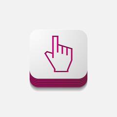 square button: hand