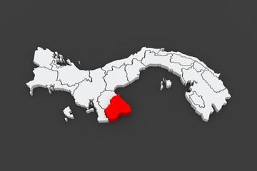 Map of Los Santos. Panama.