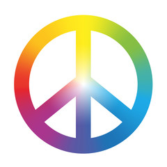 Peace Symbol Rainbow Gradient