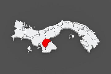 Map of Herrera. Panama.