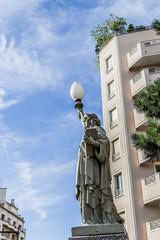 Reproduction de la Statue de la Liberté à Saint Etienne