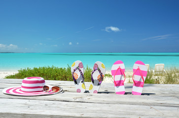 Beach scene, Great Exuma, Bahamas