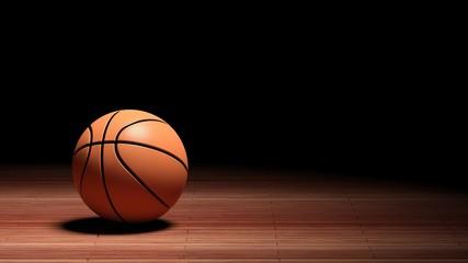 Basketball court floor with ball