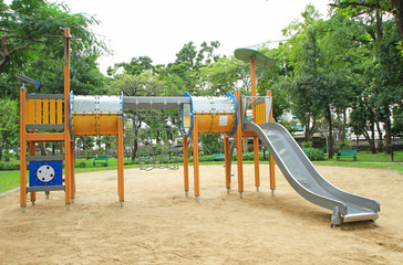 Colorful children's playground in the park