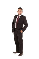 young executive posing fullbody