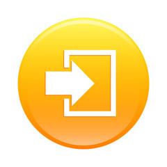 bouton internet connexion icon orange sign