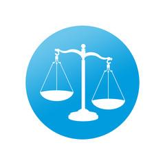 Etiqueta redonda justicia