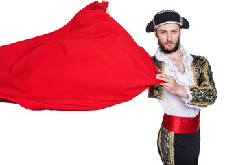 Foto op Aluminium Stierenvechten Matador throwing a red cape