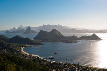 Beautiful Panoramic View of Rio de Janeiro Mountains