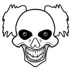 Clown totenkopf böse horror