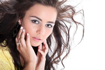 Junge hübsche Frau Portrait