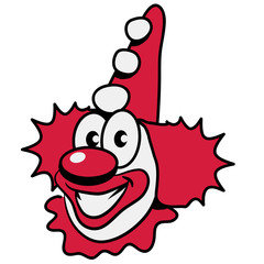 Clown Mütze witzig