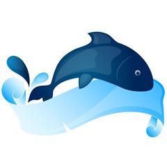 Photo sur Aluminium Dauphins fish vector