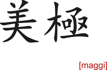 Chinese Sign for maggi