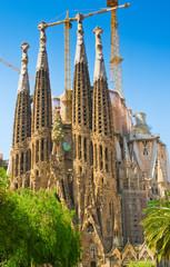 The Basilica of La Sagrada Familia in Barcelona, Spain