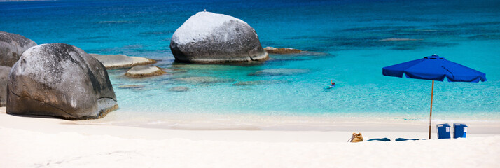 Wall Mural - Picture perfect beach at Caribbean
