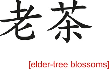 Chinese Sign for elder-tree blossoms