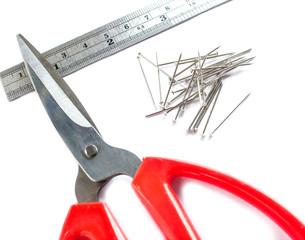 Nail scissors ruler