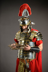 Roman Soldier Honding Crown of Thorns